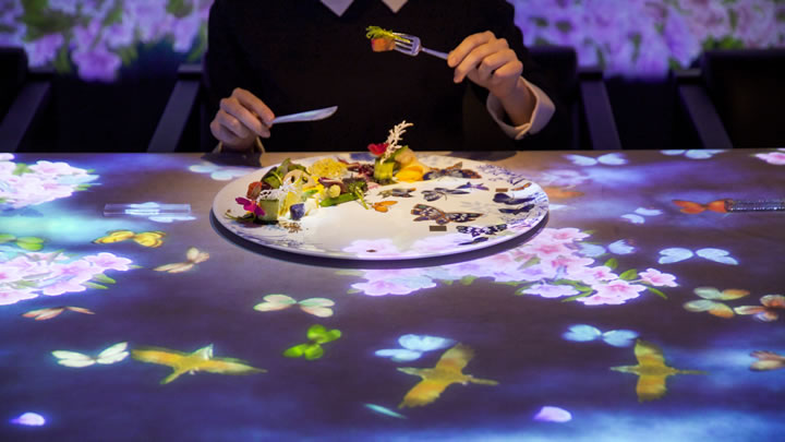 チームラボ、「佐賀牛restaurant SAGAYA 銀座」に、 日本の四季を感じながら新しい食事体験ができる、1日8名限定のインタラクティブな空間を制作。予約受付開始。