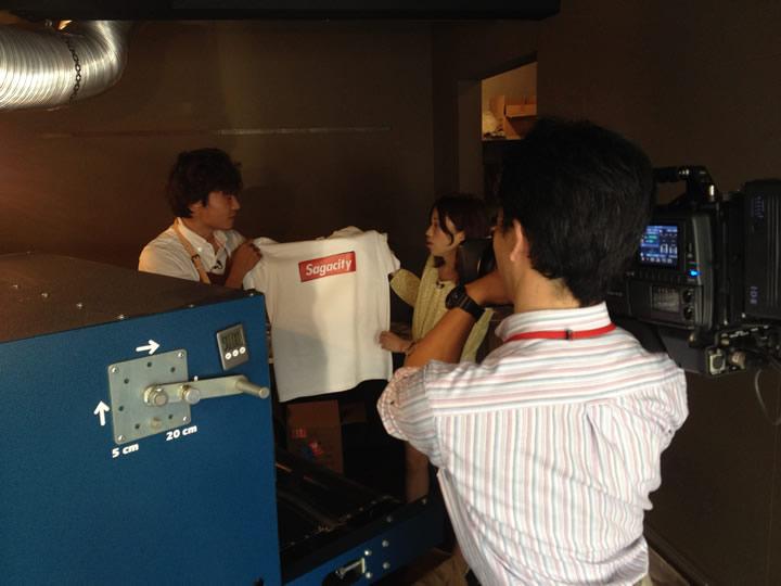 ぶんぶんテレビさんに佐賀Tシャツを取材していただきました。