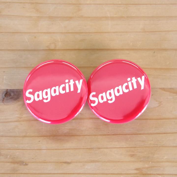 サガシティ缶バッチ