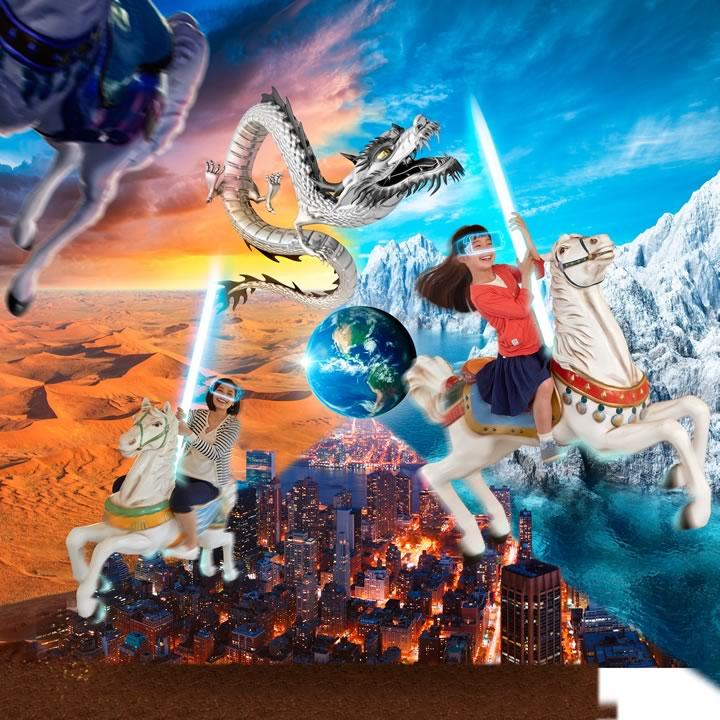 世界を巡るメリーゴーランド「DRAGON WORLD TOUR」