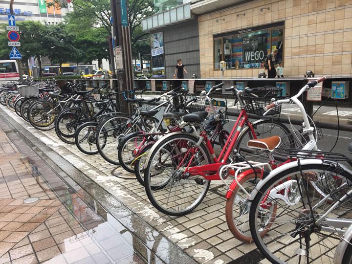 天神の自転車駐輪場