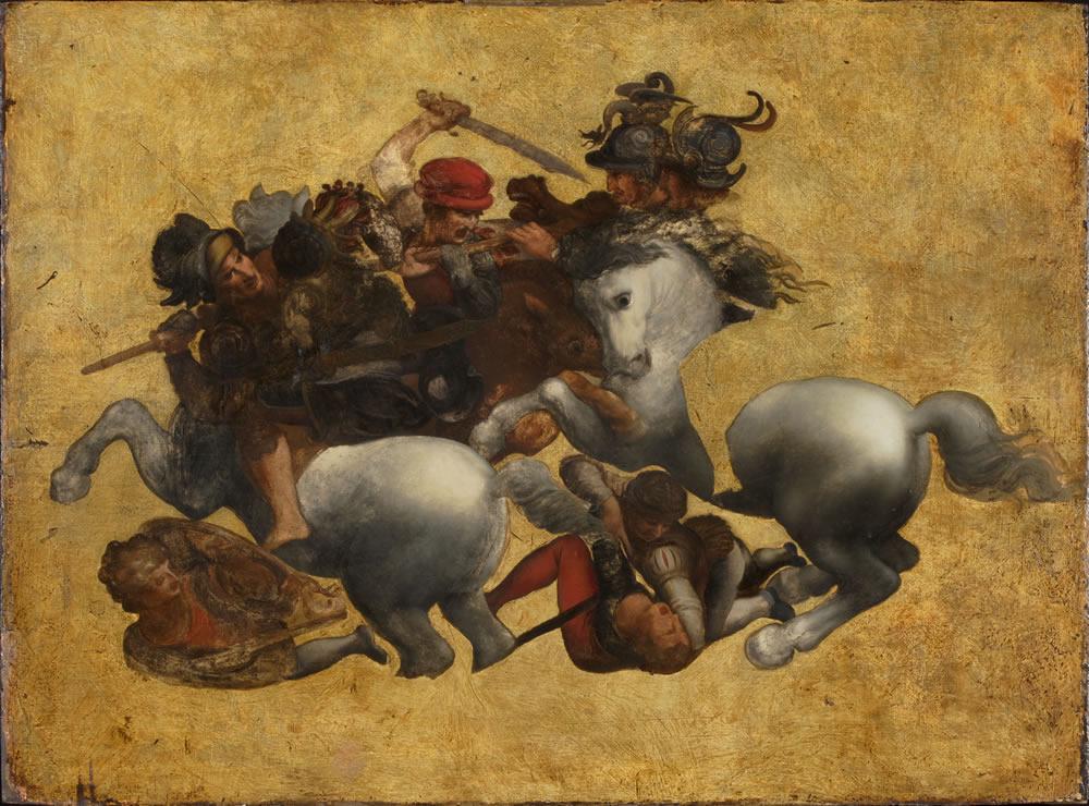 作者不詳(レオナルド・ダ・ヴィンチに基づく) 《タヴォラ・ドーリア》( 《アンギアーリの戦い》の軍旗争奪場面)