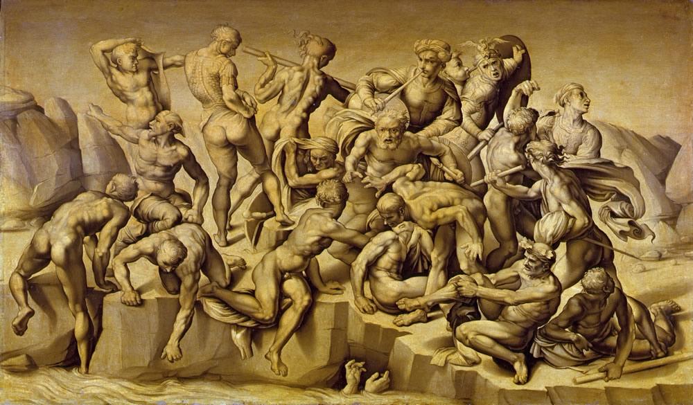 アリストーティレ・ダ・サンガッロ(本名バスティアーノ・ダ・サンガッロ) 《カッシナの戦い》(ミケランジェロの下絵による模写)