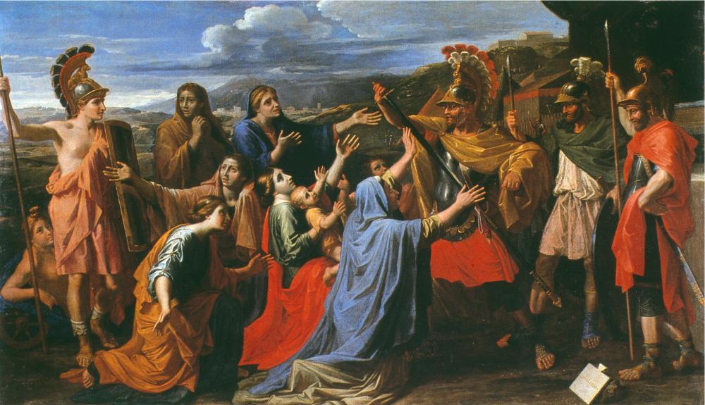 コリオラヌスに哀訴する妻と母
