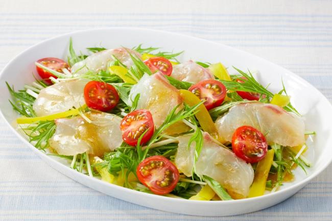 鯛と水菜の和風サラダ